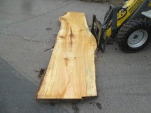 Tischplatte aus Massivholz Pappel S-00069