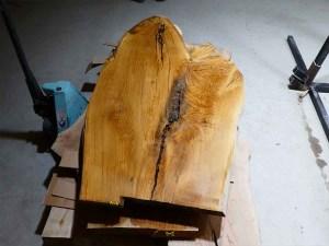 Tischplatte aus Massivholz Eiche C/W 075