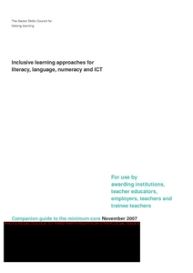 Inclusive learning approaches for literacy, language