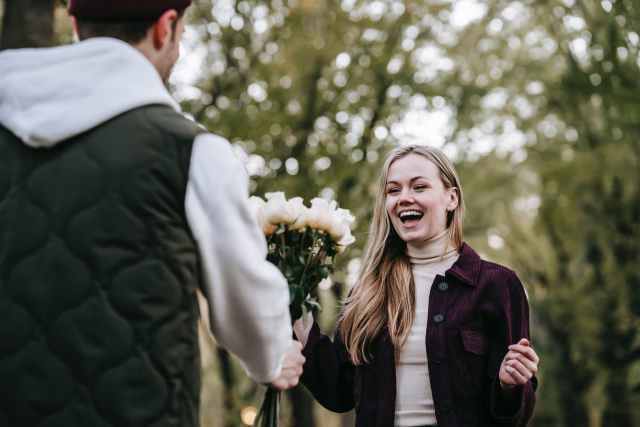 happy couple having romantic moment