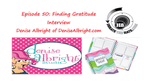 Denise Albright on the Derate The Hate Podcast
