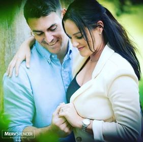 Loving couple on a pre- wedding photo shoot