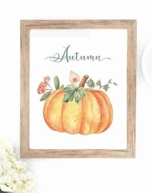 kostenlose Ausdrucke kostenlose Leckereien für Abonnenten Herbst Kürbis Herbstblätter frei bedruckbar