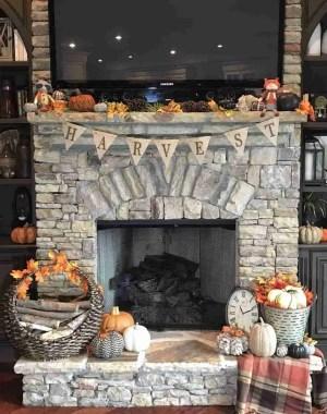 fall autumn decor plaid leaves pumpkins