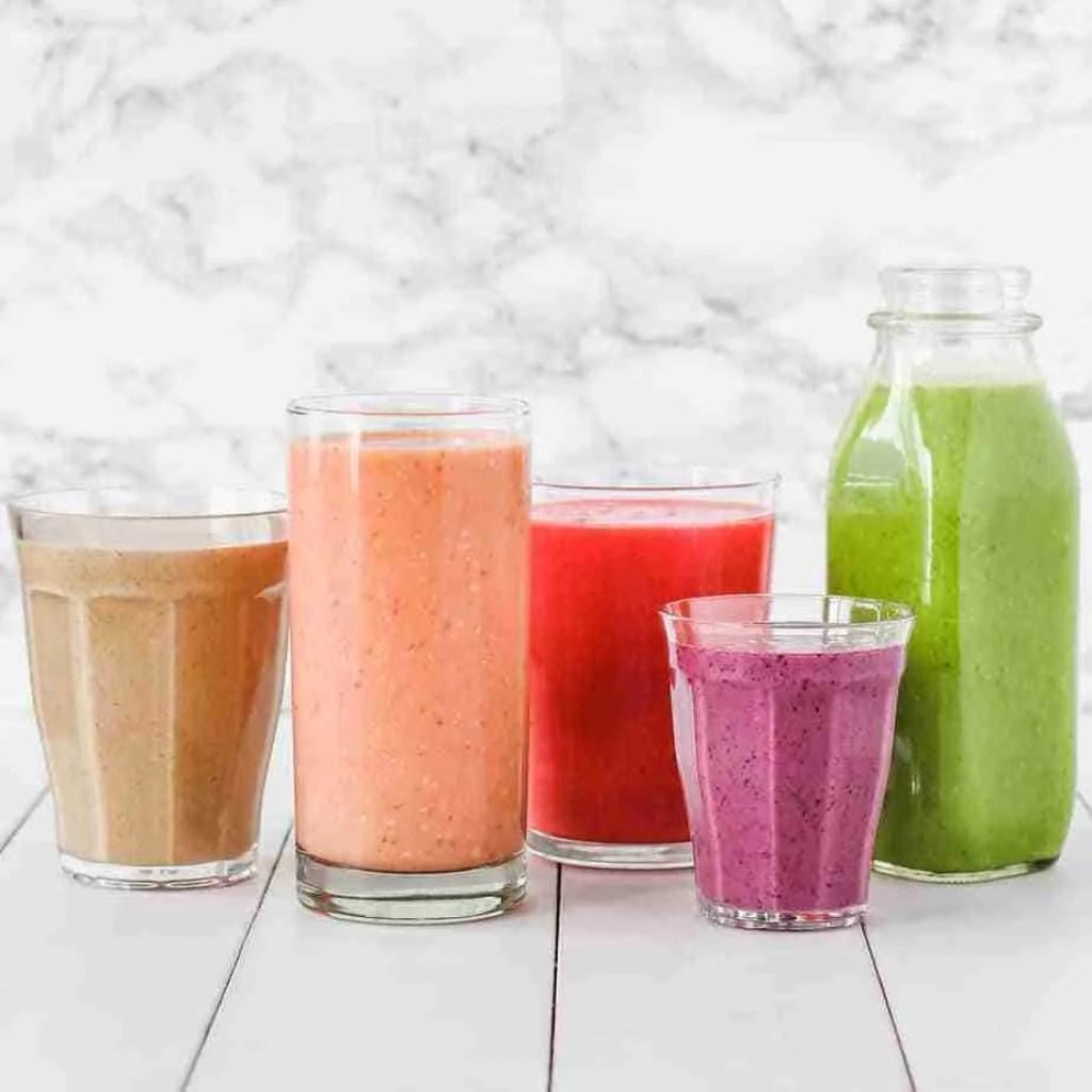 fruit juice, sugar drinks, high carb drinks