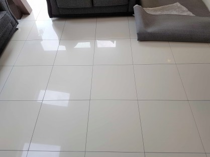 Porcelain Tiled Floor Grout After Colouring Glossop