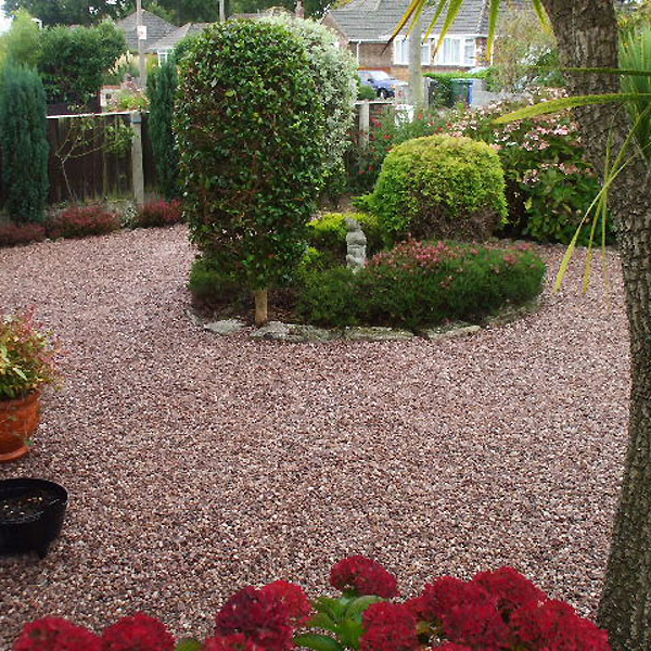 cheshire pink gravel 14mm landscaping
