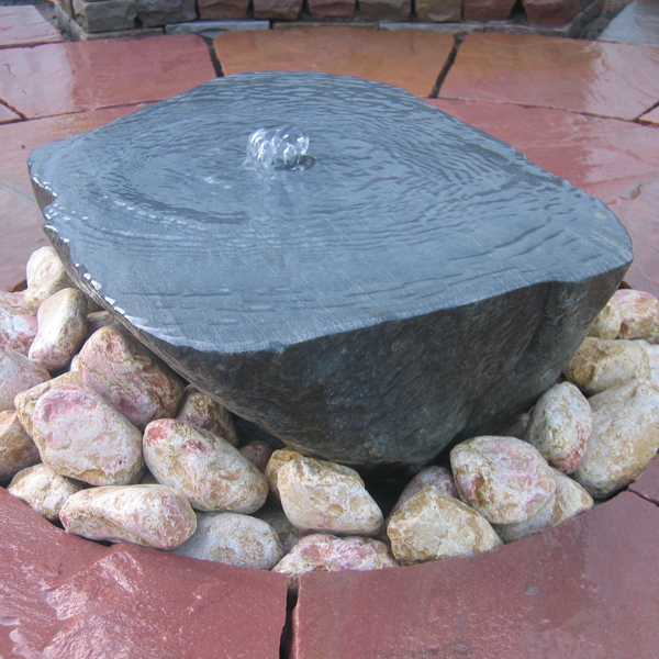 sawn boulder water feature landscaping
