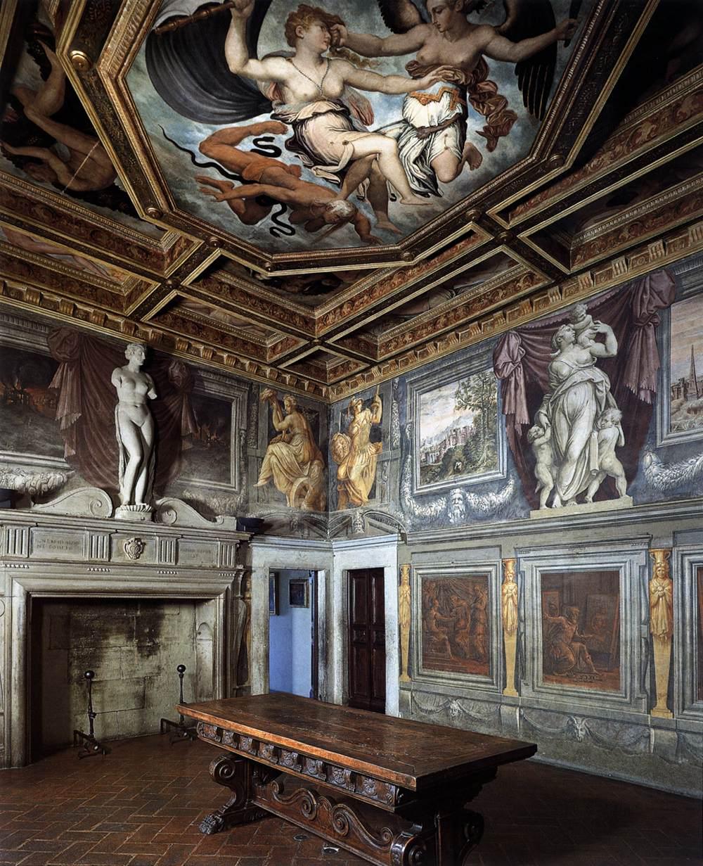 Arezzo  Sala del Camino  Casa Vasari  derebuscelestibus
