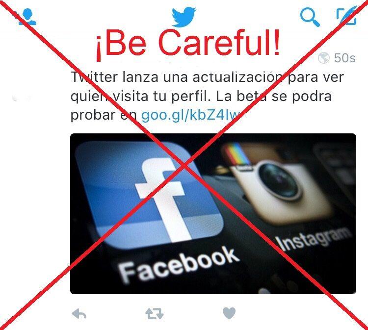 """La aplicación para """"Averiguar quien visita tu perfil en Twitter"""" es un fraude."""