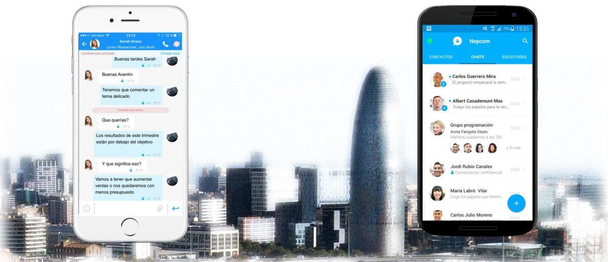 Nepcom, la app española de mensajería instantánea que autodestruye datos confidenciales.