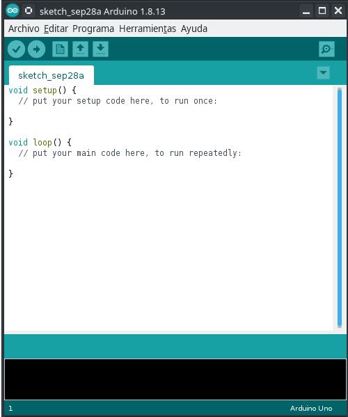 Figura 4: Primera ejecución de Arduino