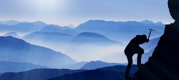 Escalando una montaña