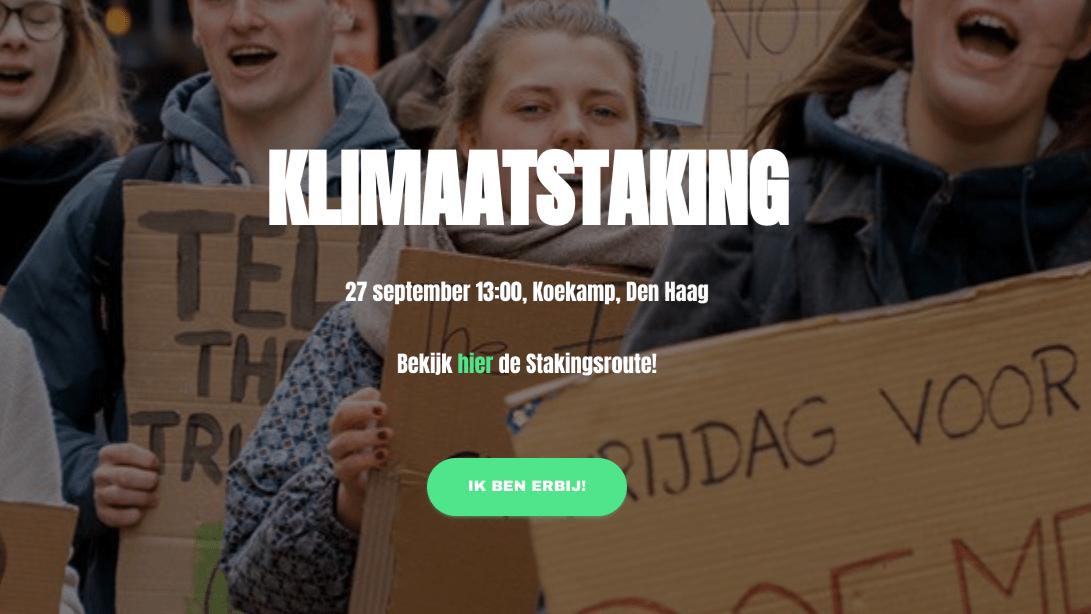Klimaatstaking Vrijdag 27 September 2019 13:00 uur Koekamp Den Haag