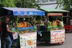 carritos de frutas y batidos Siem Reap