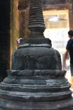 La única estupa budista que vi en el templo Preah Khan