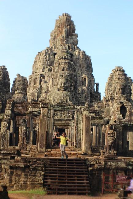 Yo en el Templo Bayon, mi preferido de todas las ruinas Angkor