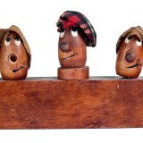 Three Funny Wooden Heads