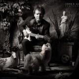 Drew Nelson with Small Dog Portrait