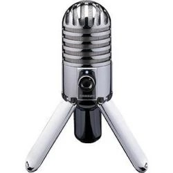 A friend suggested the Samson Meteor USB Microphone when I started doing webinars. It has served me well. It produces great sound for a single person delivering a webinar. If you're podcasting or even interviewing for your webinar, you will need to explore a different type of microphone, something that is multi-directional.