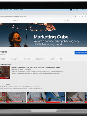 Marketing Cube YouTube Channel