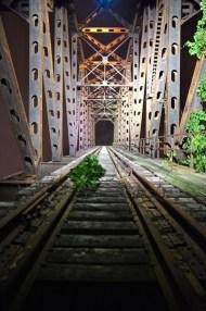 """Nighttime lookin up . Thank you Cleveland for an awesome night! Abandoned Drawbridge"" - Cleveland, Ohio - July 13/14, 2015 Courtesy: derekhough IG"