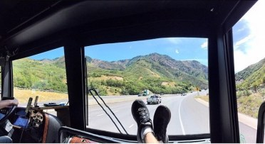 """On the way to the venue through the canyon. I feel like it gets more beautiful each time I come back."" - Salt Lake City, Utah - July 31, 2015 Courtesy: derekhough IG"