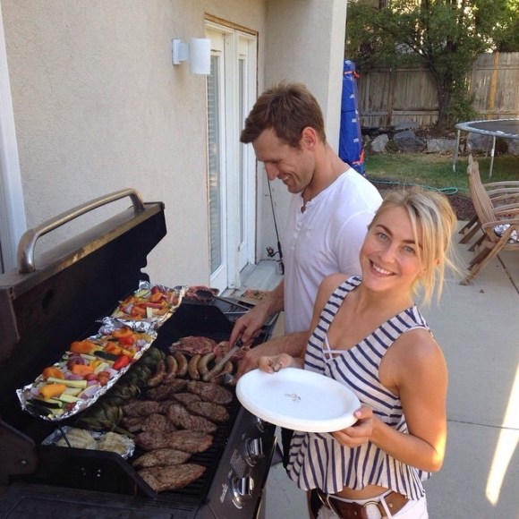 """These two amazing people grilled up some major goodness!! Steaks, veggies, sausages, artichokes, etc.! It was so good! Miss you already!!"" - Salt Lake City, Utah - July 30, 2015 Courtesy: shareewise IG"