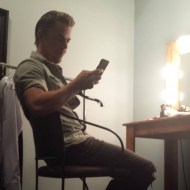 """Derek waiting in the dressing room.... #JimmyKimmel....tonight wahooo"" - February 15, 2016 Courtesy paintvalues IG"