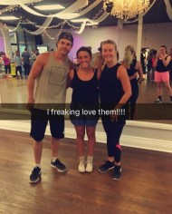 """All my dreams came true today after finally being able to go to a move interactive!:) I've been seeing them while I was home waiting till I moved to go and I made it happen today! And yes they are just as amazing in person! #MaybeEvenBetter #TwerkWerk #MoveInteractive #DerekHough #JulianneHough #Amazing"" - August 23, 2016 Courtesy babyblox2569 IG"