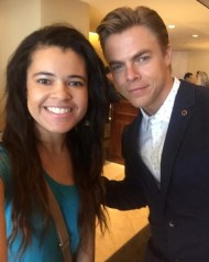 """""""And finally, the man of the hour. Hello there, Derek Hough!! 💃🏽👯😍☺️💗"""" - August 2, 2016 Courtesy sierramonetpeak IG"""