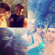 """""""Morning ride with my friend Tyson then hike with my favs😘 it was hot out there but we made it !! #moveinteractive #Saturday I had fun"""" - August 13, 2016 Courtesy malibuyuh IG"""