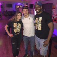 """0_0 this just happened!!! As we were teaching our bachata class at salsamania dancing with stars Derek Hough was observing our bachata class today. Such a humble person it was a pleasure to meet him."" - September 6, 2016 Courtesy: ramonanddivna IG"