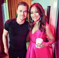 """Backstage Monday night with @derekhough! What did you think of the @dancingabc premiere? Best dance of the night? #dwts #dancing #dancingwiththestars #setlife #backstage #derekhough"" - September 12, 2016 Courtesy carrieanninaba IG"