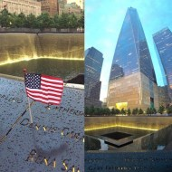 """I visited the 9/11 memorial earlier this year. It had just rained covering the streets. The sun came out with the light bouncing off the wet concrete creating a peaceful and beautiful glow. In a place where so much horror occurred the feeling of unity and calm came over me in that moment as I was reflecting upon that very sad day. To all family's who lost their loved ones, the first responders and the people who were still there long after helping to rebuild. My heart goes out to you on this day. Never forget #proudtobeanAmerican #9/11 #neverforget"" - September 11, 2016 Courtesy derekhough IG"
