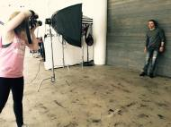 """""""Cover shooting with @derekhough this morning!"""" - October 29, 2016 Courtesy catherinepowell IG"""