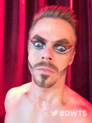 """"""".@derekhough is ready for #CirqueNight! Are you?! 30 minutes until show time!"""" - October 3, 2016 Courtesy dancingabc twitter"""