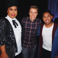 """They said you can't stop the beat...but today my heart literally skipped one 😍 @HairsprayLive @patrickstarrr @derekhough #hairspraylive"" - December 7, 2016 Courtesy heyitspeterrr_ twitter"