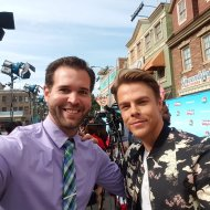 """@derekhough is one of the coolest guys in #hollywood @HairsprayLive #HairsprayLive @nbc @presspassla"" - November 16, 2016 Courtesy ryanhooks92 twitter"