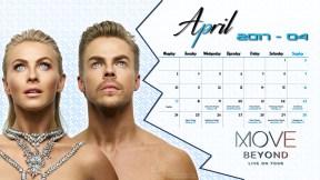 Derek Hough Calendar 2017 - April