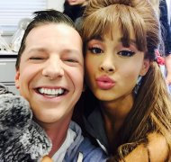 """Hanging out with @ArianaGrande on the set of @HairsprayLive. #musicalsarefun"" - December 4, 2016 Courtesy seanhayes twitter"