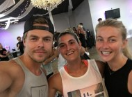 """Another amazing #moveinteractive workout with @derekhough & @juleshough ! I LOVE going to these workouts - I am always a hot sweaty mess after but I feel AMAZING because I showed up, I pushed myself, and I had fun. That's what it's all about. #letsmove #motionequalsemotion #apklife #pulsefitnessstudio #weekendworkout #loveyourself #lookgoodfeelgood #fitnessmotivation #trainingday"" - August 23, 2016 Courtesy adrie_enne IG"