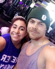 """So my Saturday is going prettttty well.... Last minute gym opportunity with this guy! Working out with @derekhough is just...... the BEST!!! Don't kid yourself.. my workout buddy is sooo much more awesome than yours! Those who work out together stay together💪🏼🙌🏻❤ #moveinteractive #workoutbuddy #move #sweatitout"" - January 14, 2017 Courtesy saringoncuian IG"