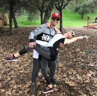 """Hit a #DWTS💃⚡ pose after a Fun hike today at #FrymanCanyon ! Always thankful to do these awesome events with @juleshough @derekhough and meeting so many cool people each time! Another successful #moveinteractive event and stoked for the next! #motionequalsemotion #HappySaturday #Hiking #BeautifulDay"" - February 11, 2017 Courtesy alexglick1116 IG"