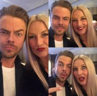 """""""Love this guy so much! @derekhough #brothersisterlove #goofballs"""" - February 26, 2017 Courtesy shareewise IG"""