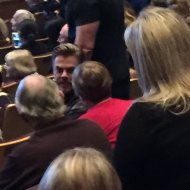 """From the view of my seats it look like @derekhough was only at least 2 or 3 rows in front of me in Thousand Oaks. #DWTS #WeCameToDance"" - February 12, 2017 Courtesy snowbubbleon twitter"