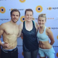 """Great start to the weekend getting my sweat on with Jules and Derek at @corepoweryoga! Thanks for the amazing class, guys!! 💜 Don't forget to get your tickets to the Move Beyond tour-- you don't want to miss it!! #moveinteractive #movebeyondtour"" - March 11, 2017 Courtesy shaylienorton IG"