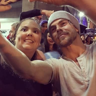 """Selfie with #derekhough #movebeyondlive"" courtesy mandym330 ig"