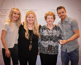 """Took my Grandma to see Derek & Julianne Hough for her 85th Birthday!! It was such an honor to meet these two incredible human beings!! 💕🙌🏼 @juleshough @derekhough #movebeyondtour #movebeyond #juleshough #juliannehough #derekhough #dancingwiththestars #meetandgreet #vip #movebeyondtourraleigh"" courtesy tswiftborn1989 ig"