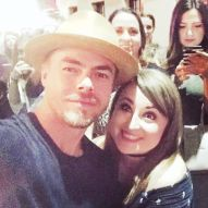 """my perfect night! ❤❤ I have adored @derekhough for 10 years and have only ever dreamed of meeting him. Tonight... IT HAPPENED. LIFE. COMPLETE. #derekhough #moveliveontour #myheart #iloveyou #incredible"" Courtesy sashamar10 ig"